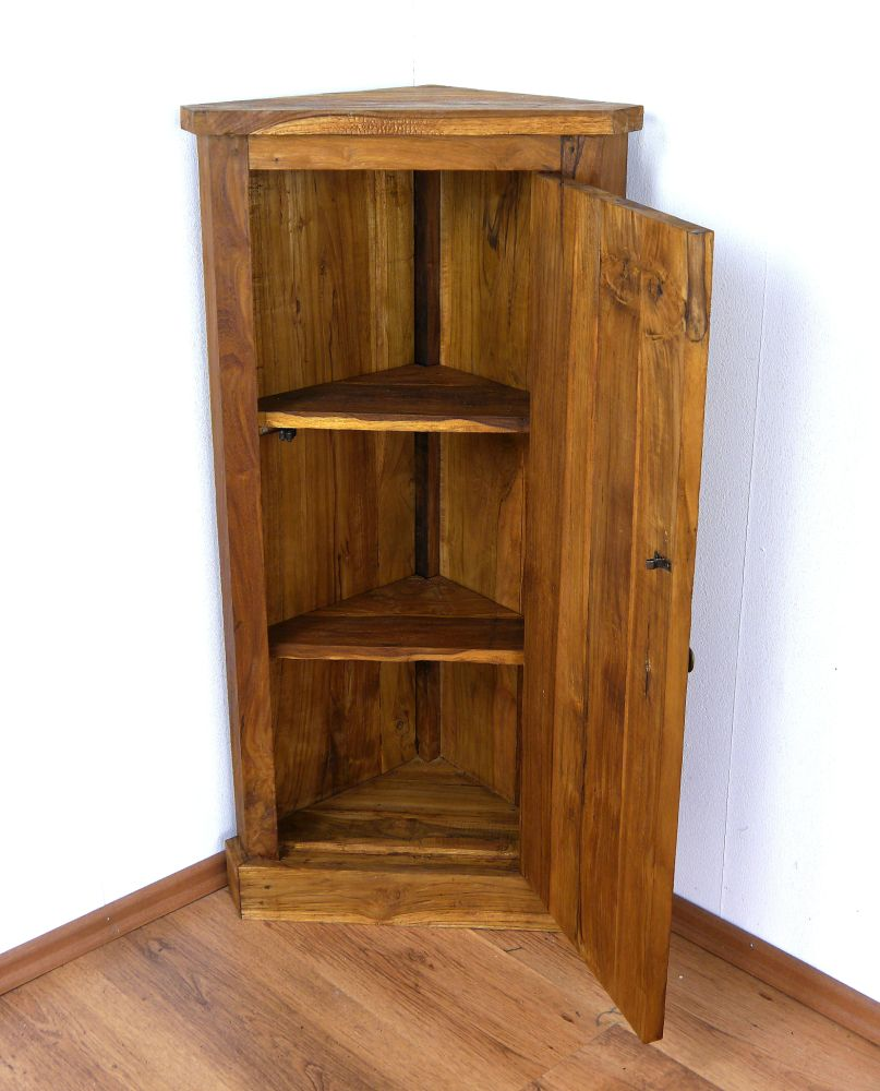 teakholz alt recycelt eckschrank garderobenschrank. Black Bedroom Furniture Sets. Home Design Ideas