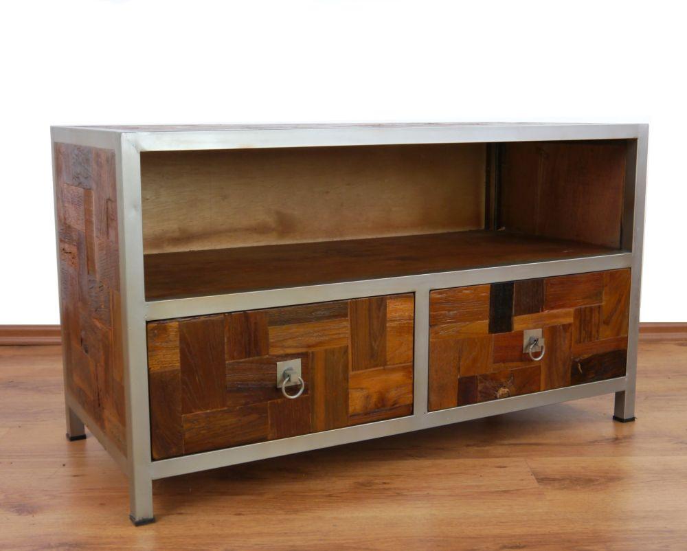 Wunderschön Tv Bank Metall Sammlung Von Teakholz Und Metall, Sideboard, Bank, Hifi Tisch,