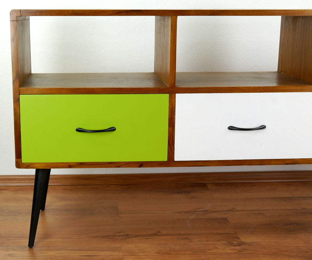 java furniture teakwood retro style green white sideboard handmade ebay. Black Bedroom Furniture Sets. Home Design Ideas
