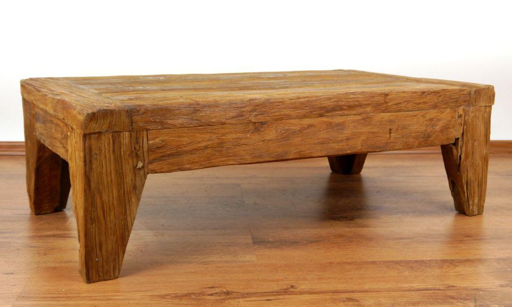 rustic reclaimed teak wood coffee table handmade java furniture indonesia - Teak Wood Coffee Tables