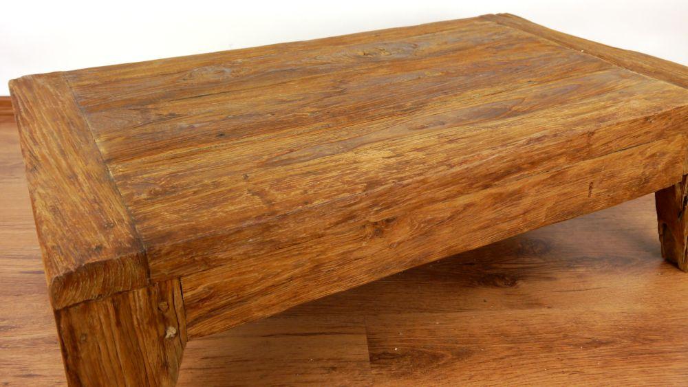 Rustic Reclaimed Teak Wood Coffee Table Handmade Java Furniture Indonesia