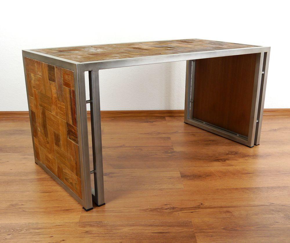 Modern Tisch 39 modern industrial design 39 coffee table wood meets metal java furniture 100x50cm ebay