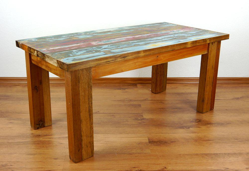 Java Tisch Aus Bunten Recycelt Teakholz Wohnzimmertisch