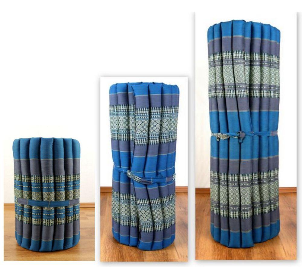 Kapok Rollmatte Liegematte Yogamatte Massagematte Thaimatte Thaikissen Thaikissen Thaimatte Fengshui 9285f8