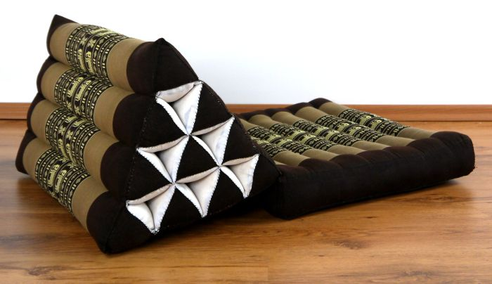 sitzkissen boden foldable thai mat with xxl jumbo triangle cushion kelim bodenkissen
