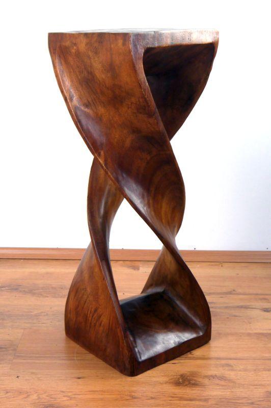 Massivholzs ule asiatischer hocker doppelt hoch gedreht for Beistelltisch hoch