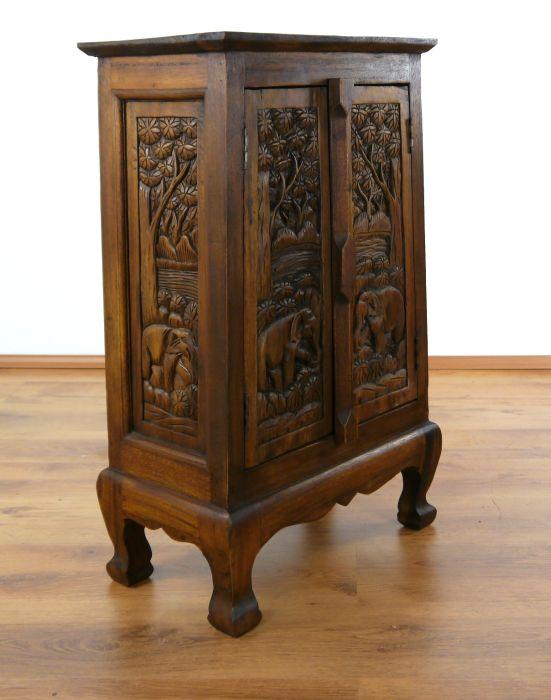 Asiatische Möbel schränke mit elefantenschnitzerei massivholz möbel
