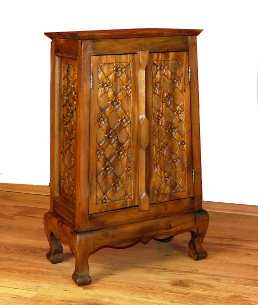 asiatischer schrank 80cm kommode nachtschrank sideboard massivholz asia blume 4260328032855. Black Bedroom Furniture Sets. Home Design Ideas