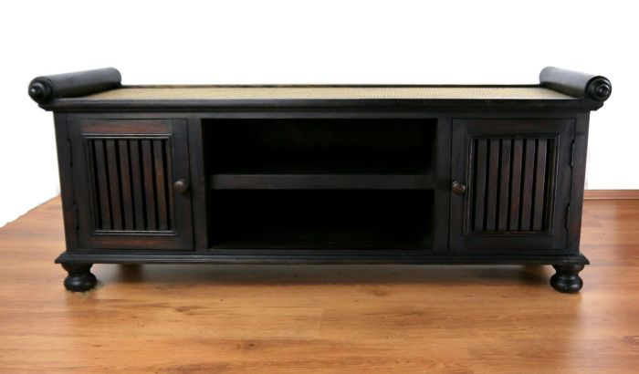 asiatisches sideboard massivholz tv schrank m bel thai bali indonesien ebay. Black Bedroom Furniture Sets. Home Design Ideas