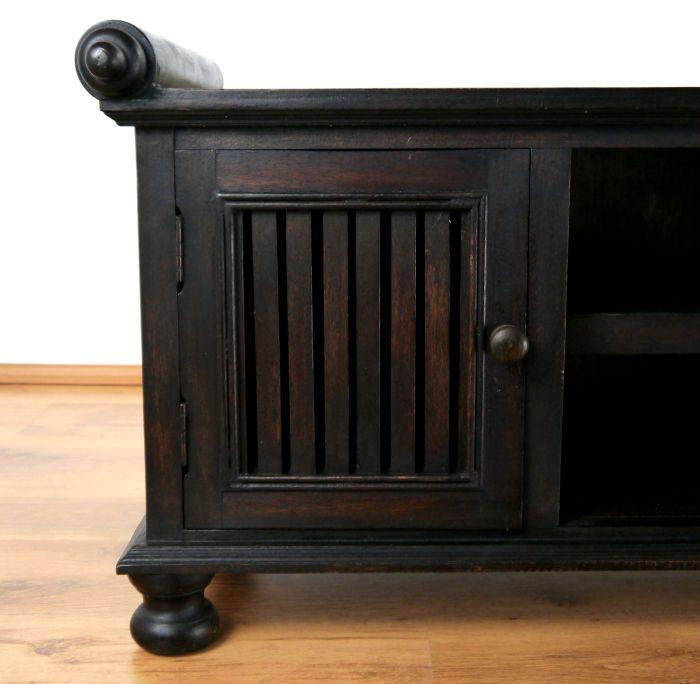 asiatisches rattan sideboard hifi tv kommode schnitzerei holz thai m bel ebay. Black Bedroom Furniture Sets. Home Design Ideas
