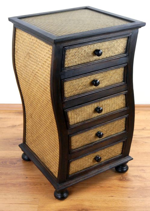 rattankommode schubladenschrank asia kommode handarbeit rattanschrank ebay. Black Bedroom Furniture Sets. Home Design Ideas
