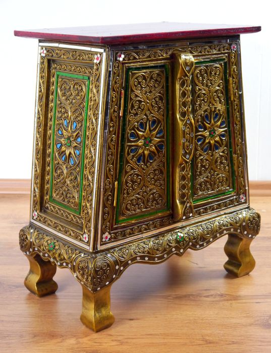 Superbe Tiny Glass Mosaic Cupboard Small Cabinet Handmade Thai Furniture Asia