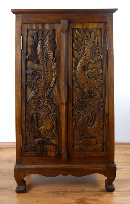 asiatischer schrank drachenschnitzerei kommode massivholz handarbeit asia m bel ebay. Black Bedroom Furniture Sets. Home Design Ideas