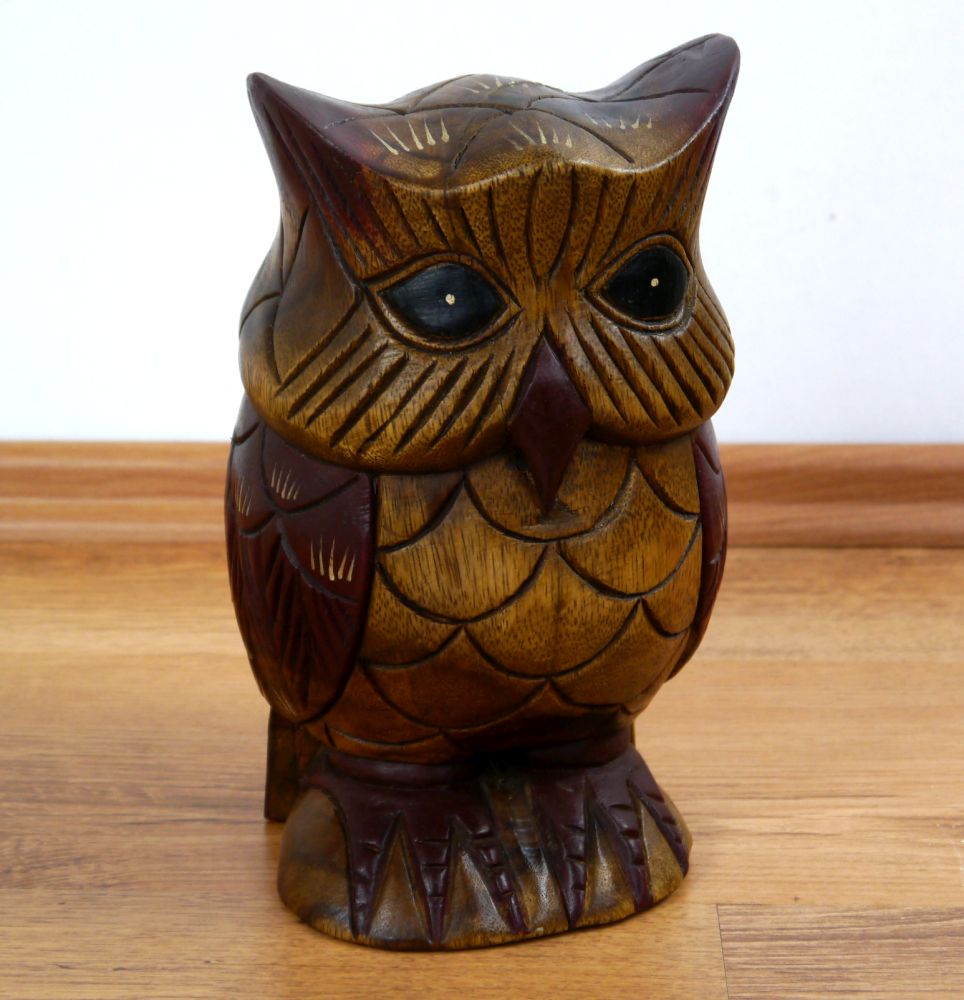 Beautifully Handcrafted Wooden Owls Handmade In Thailand