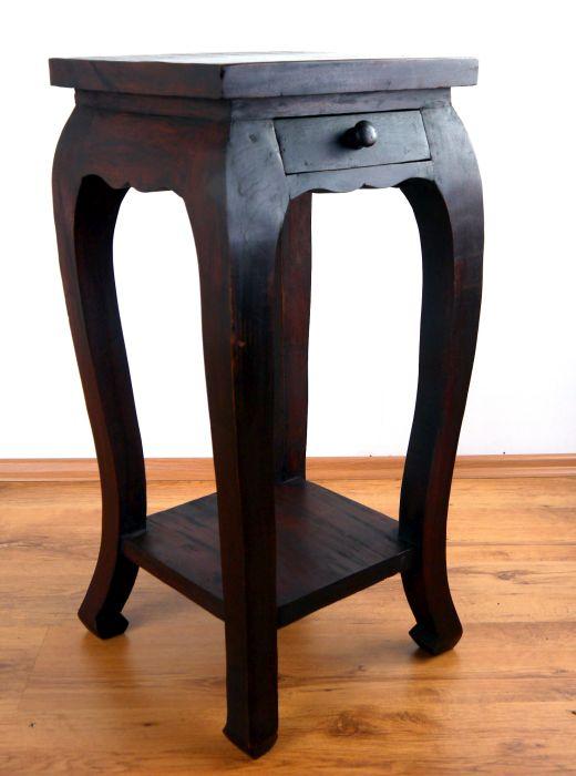 opiumtisch beistelltisch extra hoch blumens ule asia tischm bel handarbeit ebay. Black Bedroom Furniture Sets. Home Design Ideas