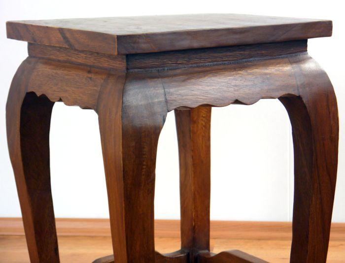 Opiumtisch 36x36cm 50cm hoch beistelltisch nachttisch for Schmaler beistelltisch hoch