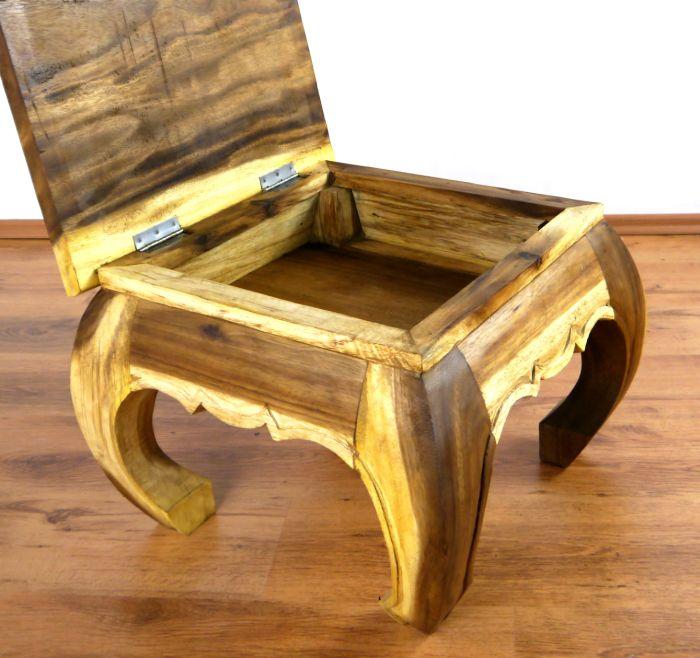 opiumtisch natur klappbar 50x50cm beistelltisch couchtisch thai m bel massivholz ebay. Black Bedroom Furniture Sets. Home Design Ideas
