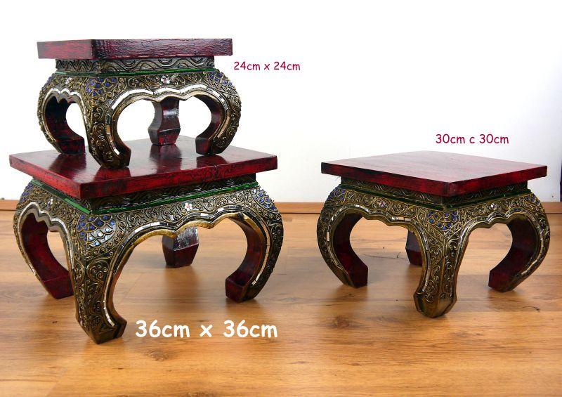 Asian Opium Table Glass Mosaic Look