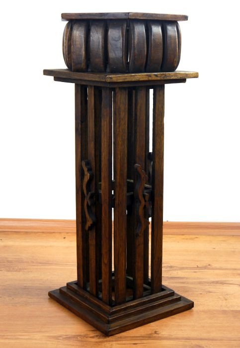 elegante blumens ule aus massivholz blumentopf pflanzenpodest statue ebay. Black Bedroom Furniture Sets. Home Design Ideas