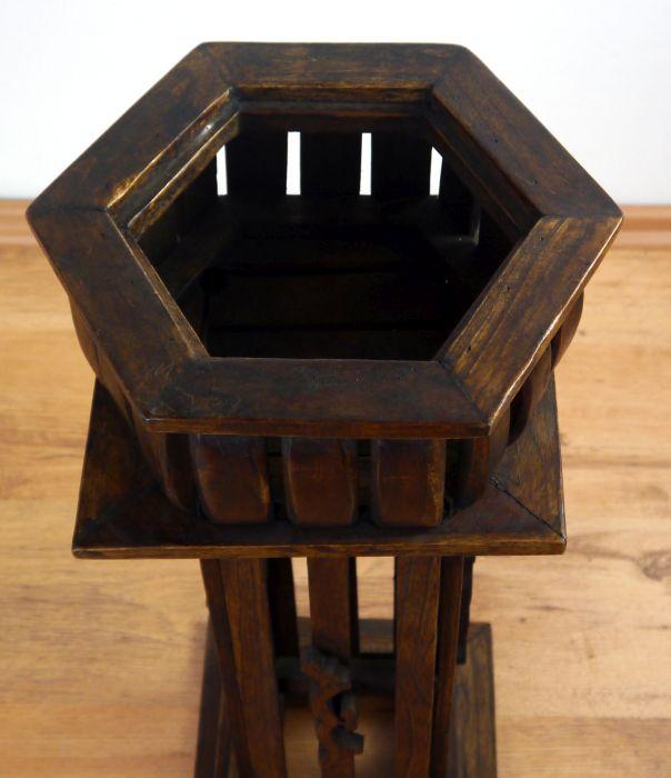 elegante blumens ule aus massivholz blumentopf pflanzenpodest statue 4260385121530 ebay. Black Bedroom Furniture Sets. Home Design Ideas