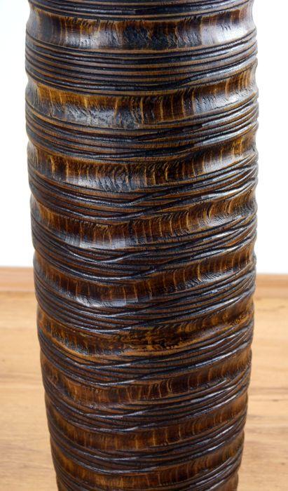 schlichte bodenvase schmetterlingskokon blumenvase holzvase asia dekovase 4260450912926 ebay. Black Bedroom Furniture Sets. Home Design Ideas
