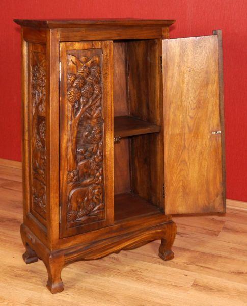 asiatischer schrank kommode nachtschrank sideboard massivholz asia elefant ebay. Black Bedroom Furniture Sets. Home Design Ideas