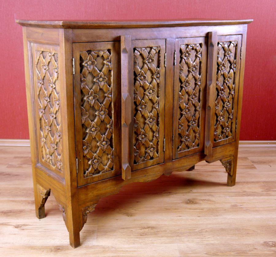asia sideboard in 3 motive massivholz anrichte asia m bel handarbeit ebay. Black Bedroom Furniture Sets. Home Design Ideas