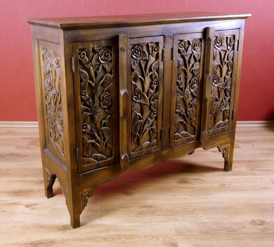 asia sideboard in 3 motive massivholz anrichte asia. Black Bedroom Furniture Sets. Home Design Ideas