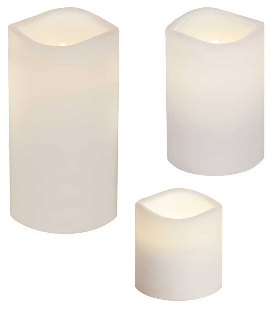 led kerzen kunststoff wei div gr en timer 6 18h flackerlicht f au en top ebay. Black Bedroom Furniture Sets. Home Design Ideas