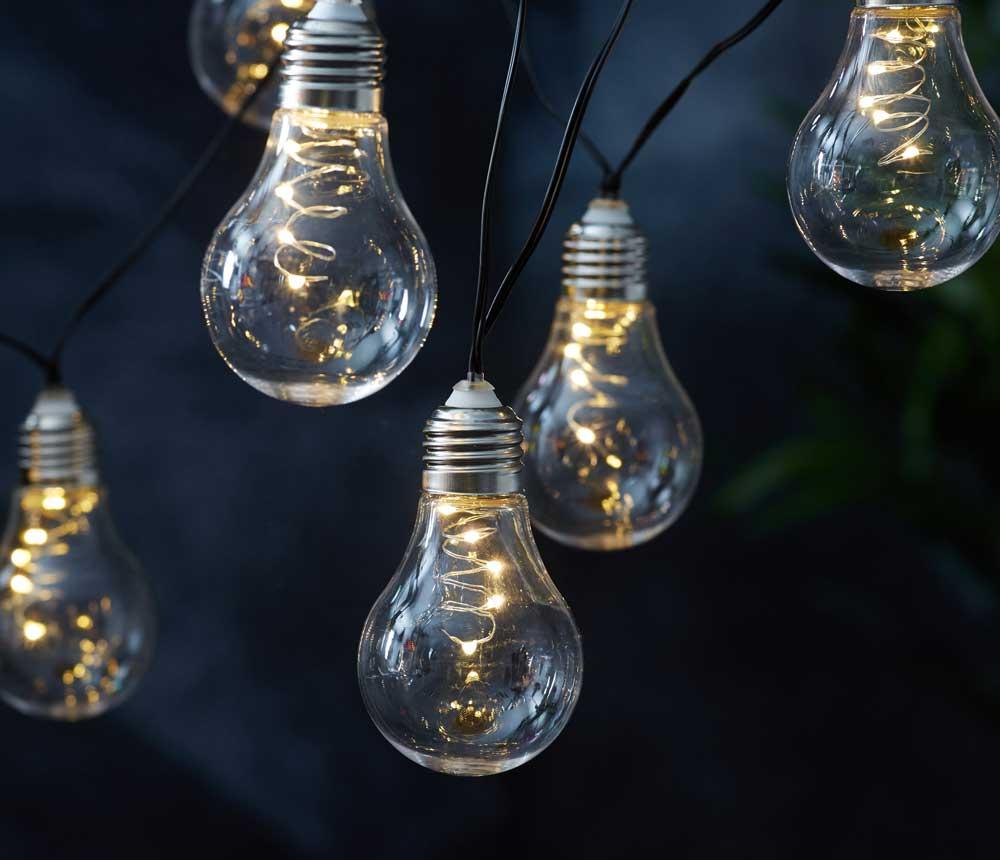solar lichterkette 10 gl hbirnen je 5 leds am draht 50. Black Bedroom Furniture Sets. Home Design Ideas