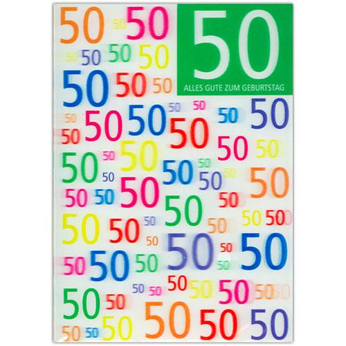 Karte 50 Geburtstag.3d Karte 50 Geburtstag