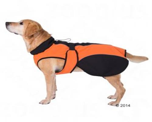 Hundemantel Hundejacke Regenmantel SOFTSHELL orange