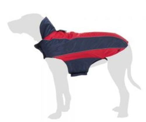 Hundemantel Hundejacke Wintermantel Softshell ALL SEASON rot/dunkelblau