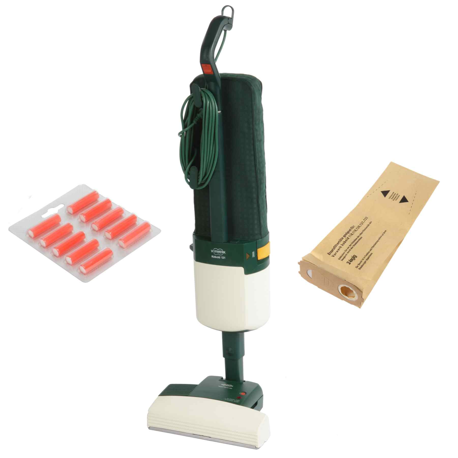 10 Filtertüten Ersatzbürsten Duft geeignet für Vorwerk Kobold 119 120 121 122