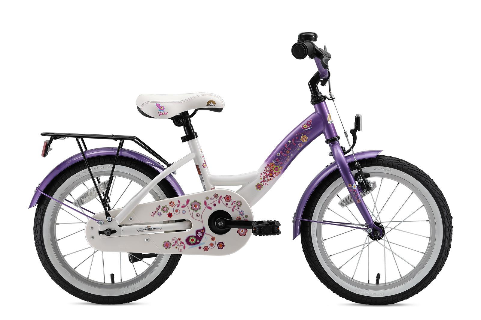 bi 16 kk 01 lcwe bikestar 16 zoll kinderfahrrad lila weiss. Black Bedroom Furniture Sets. Home Design Ideas