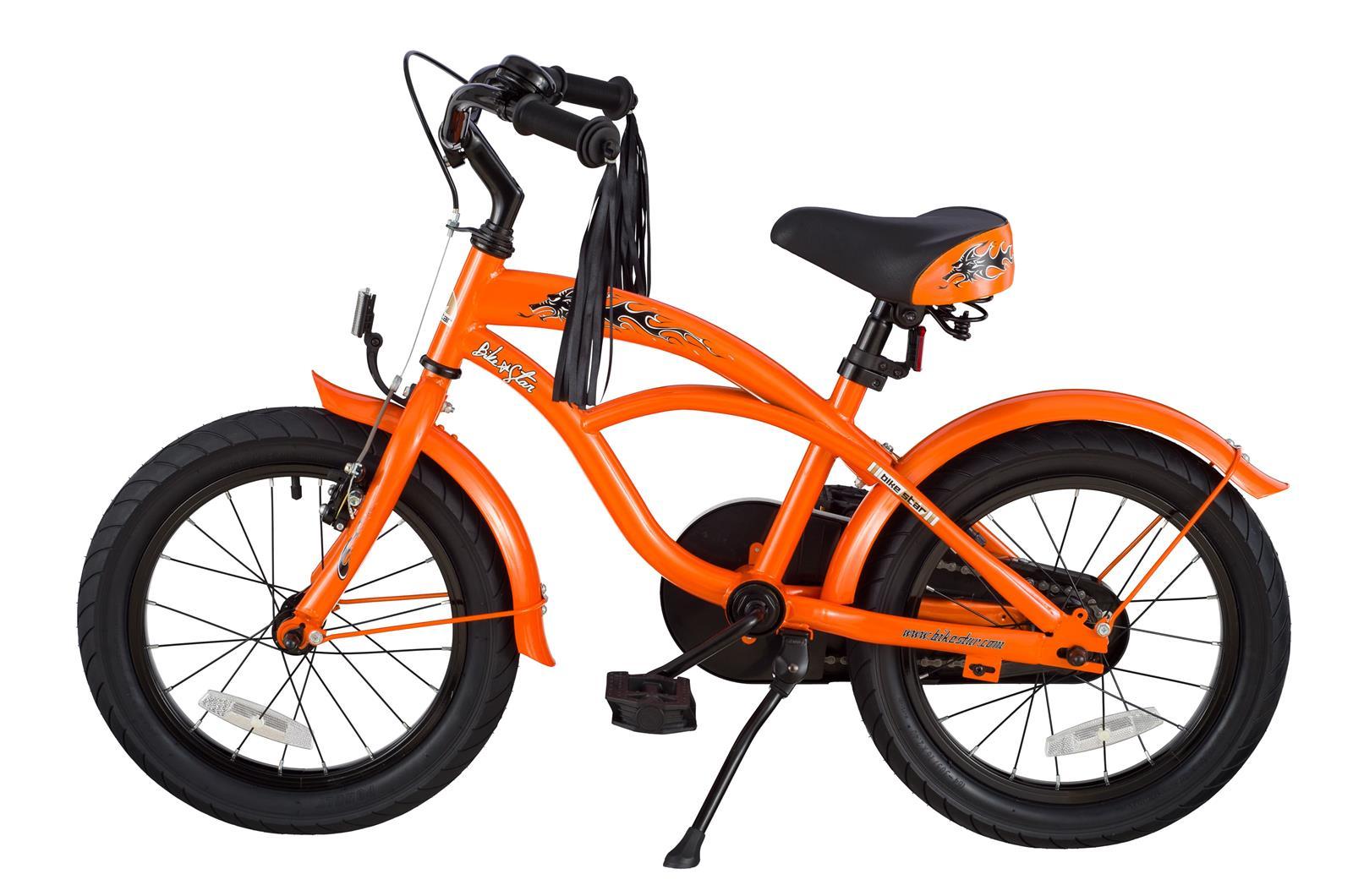 bi 16 cr 02 oran bikestar 16 zoll kindercruiser orange. Black Bedroom Furniture Sets. Home Design Ideas