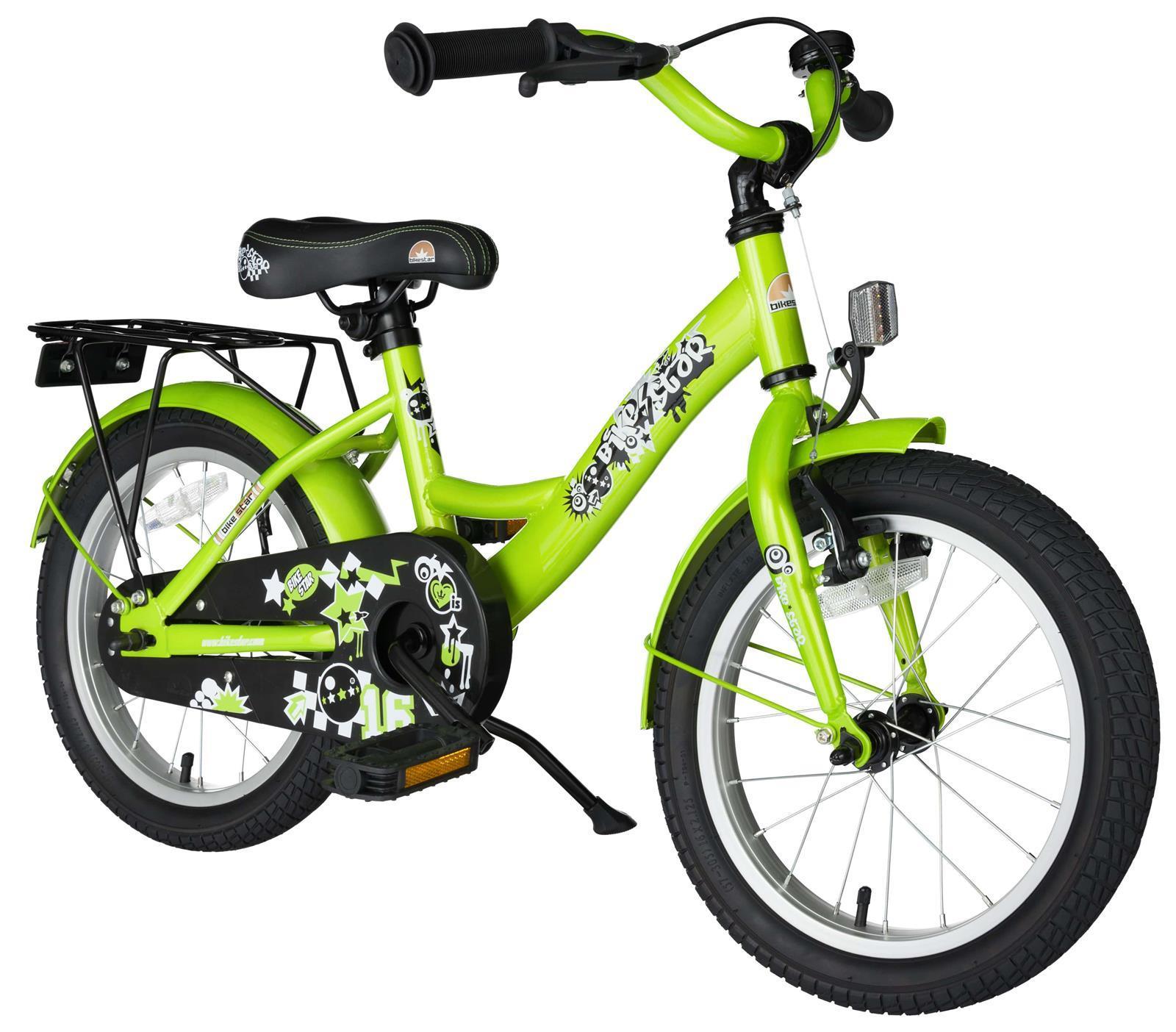 bi 16 kk 02 gree bikestar 16 zoll fahrrad gruen. Black Bedroom Furniture Sets. Home Design Ideas