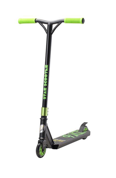 SC-100-SJ-AD-BLAC Star-Scooter 100mm Advanced Jump Schwarz & Grün