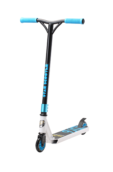 SC-100-SJ-AD-WHIT Star-Scooter 100mm Advanced Jump Weiss & Blau