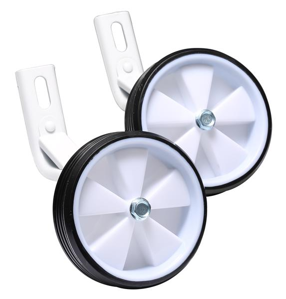 BIKESTAR Universal Stabilisers Bicycle Training Wheels | 12 Inch Bikes | White