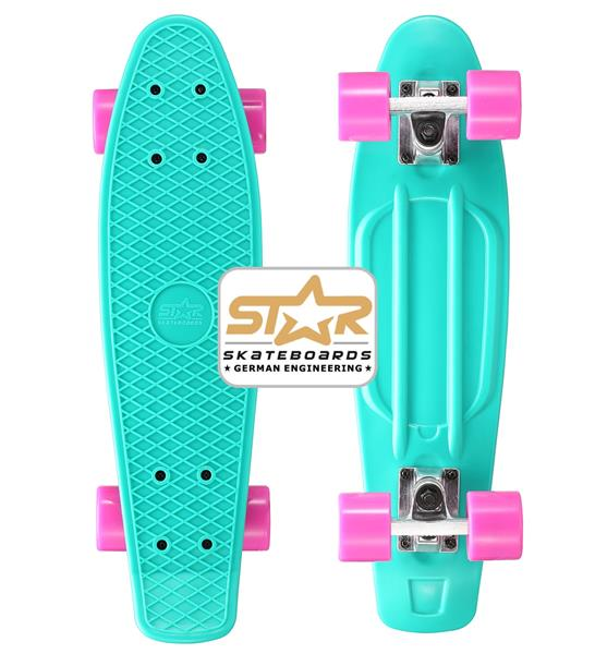 2.Wahl - SK-60-RT-01-PLBY Star-Skateboards Cruiser Türkis&Berry