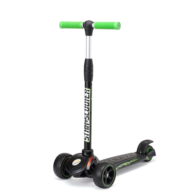 SC-120-FP-KC-BKGN Star-Scooter Monsterwheel Kickcruiser Schwarz & Grün