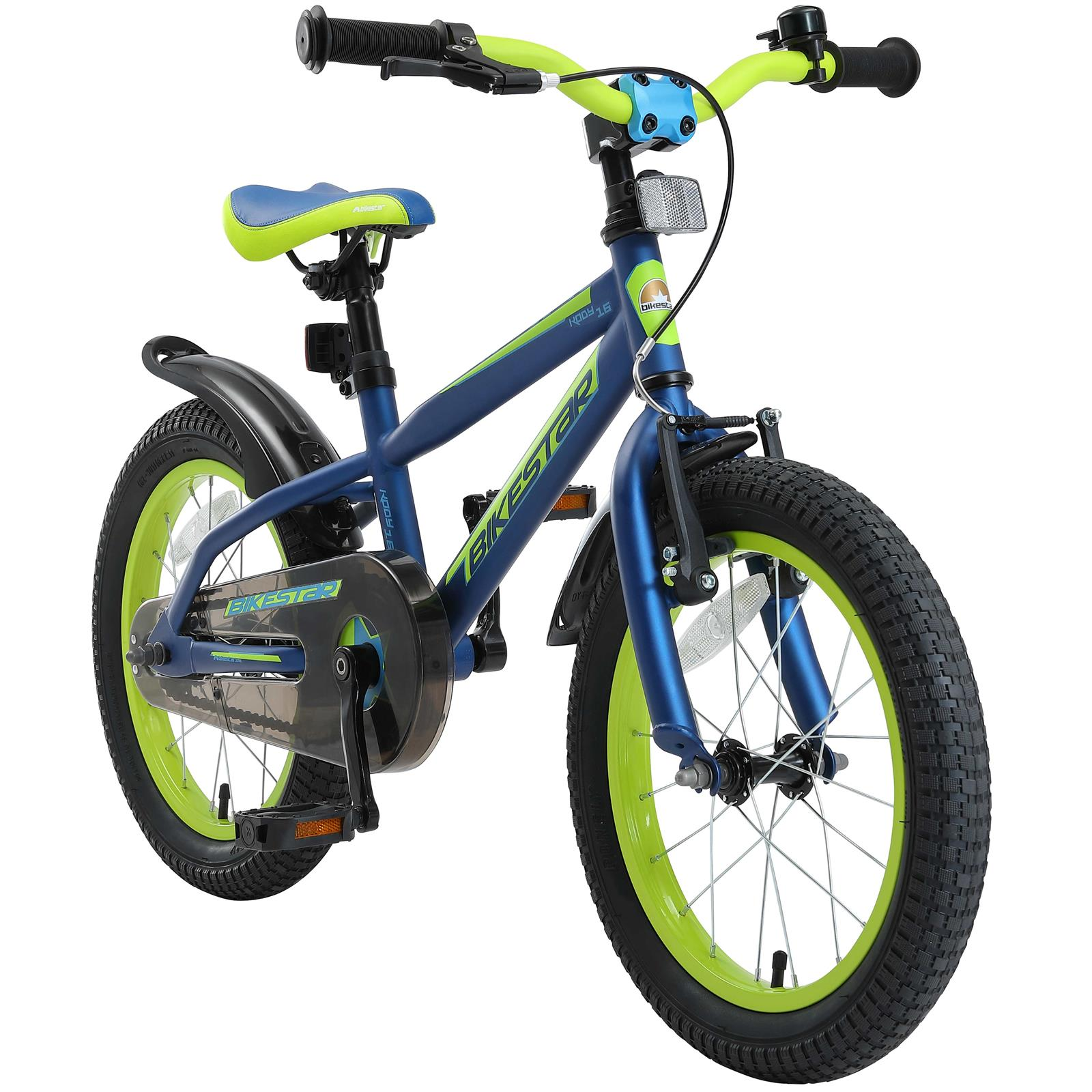 Kinderfahrrad Fahrrad für Kinder ab Jahr 3 Mit Rückbremse Blau 14 Zoll