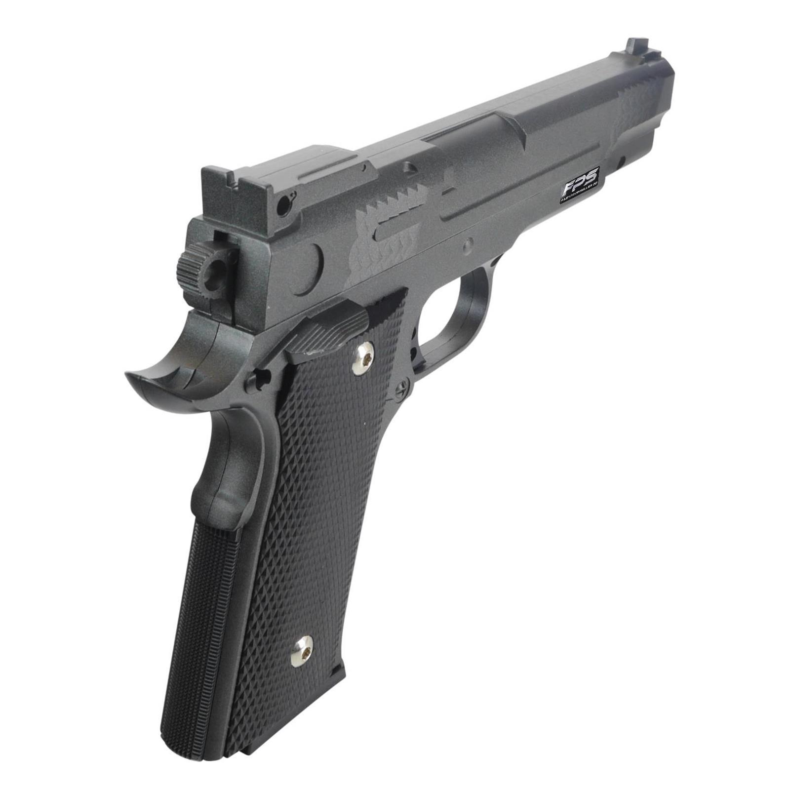 Softair Airsoft Gun Requisit Pistole Fps20 Metall 500x 0 2g Bb 6mm Grau Schwarz