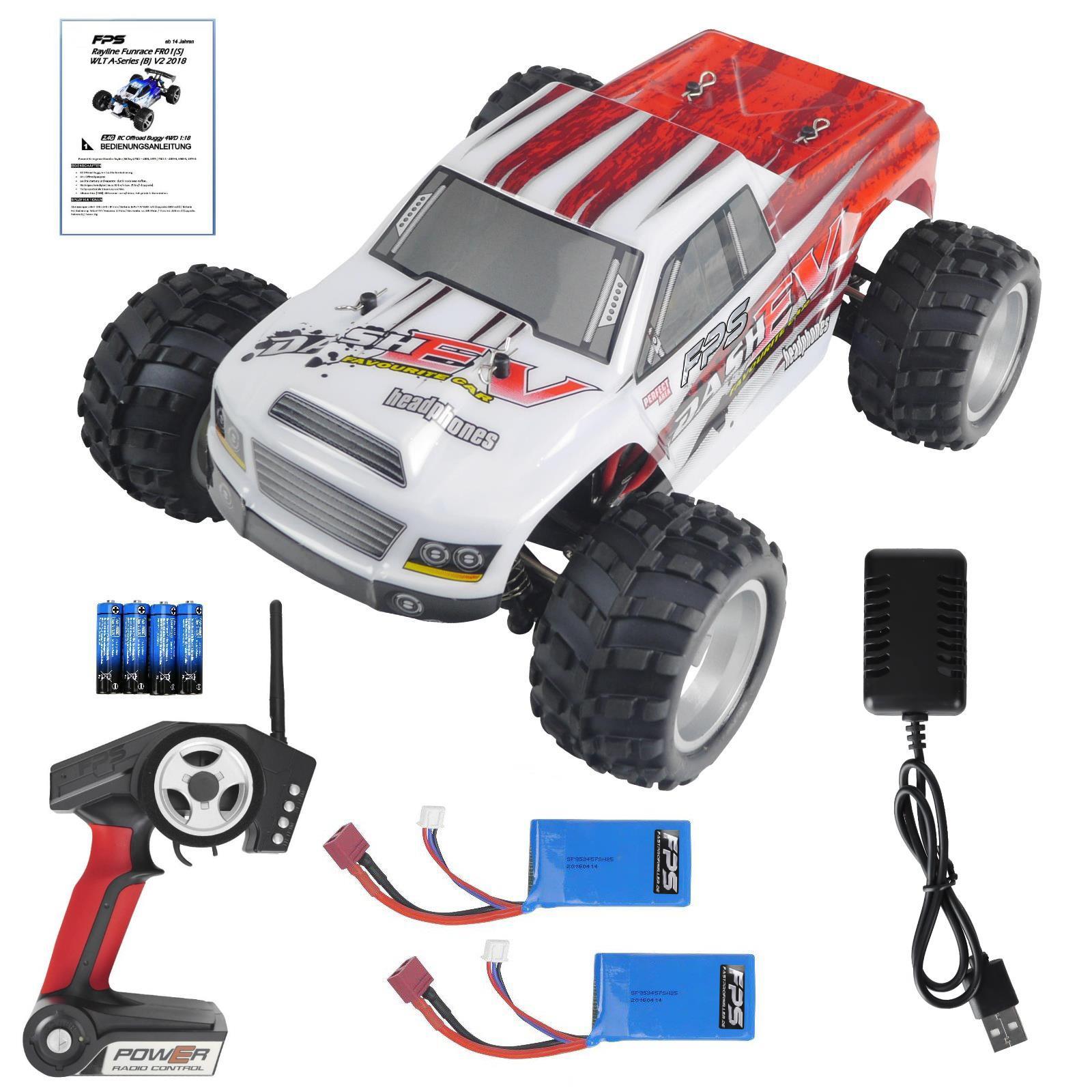 Rayline Funrace 01 S FR01 S RC Monster Truck mit Zubehör 2x Akku