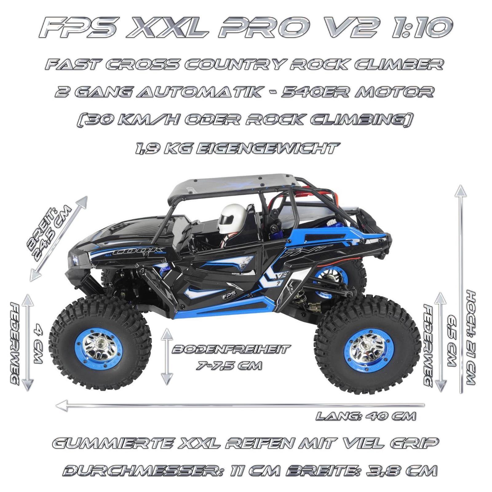 FPS Bundle XXL PRO V10 RC Monster Truck Ansicht Seite