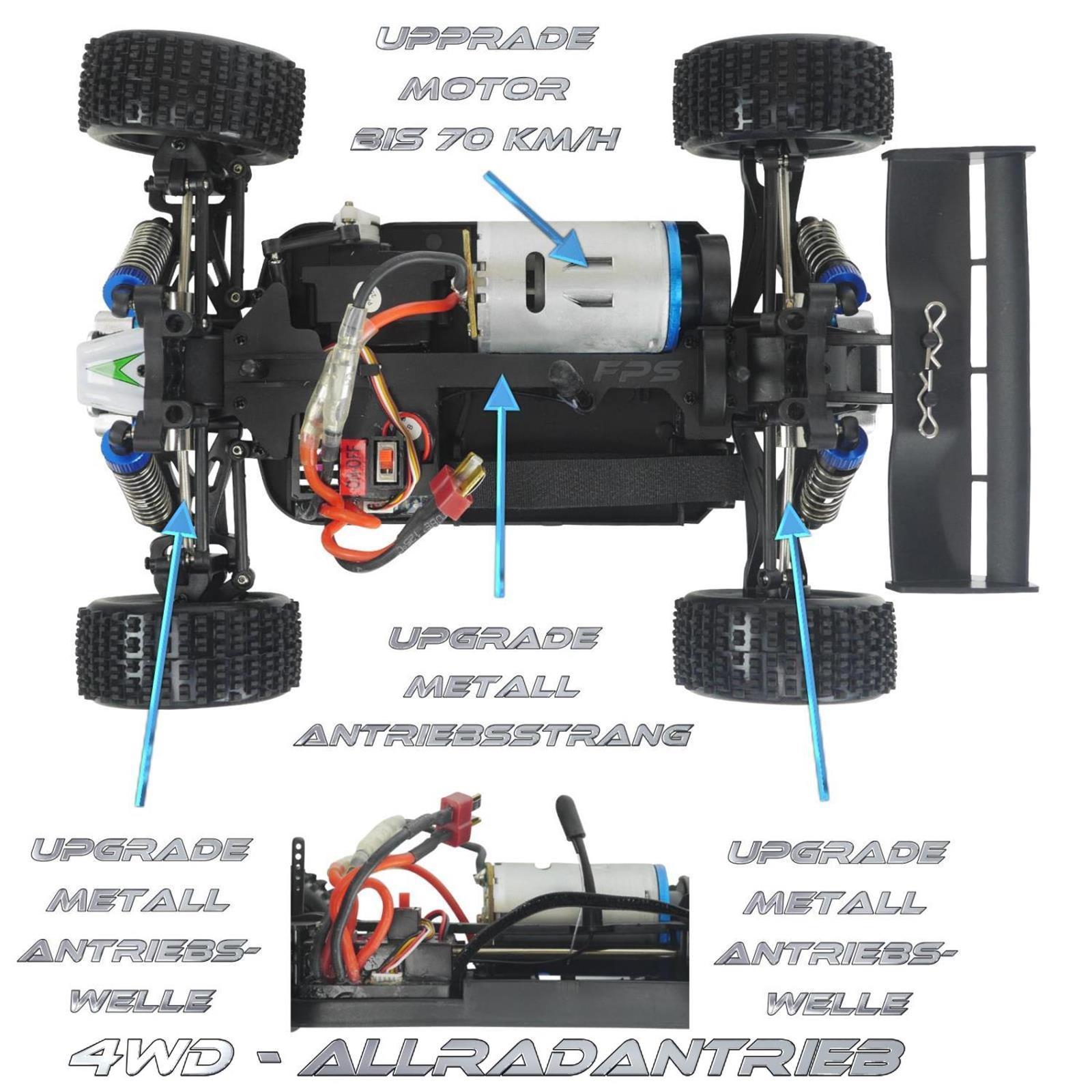 Rayline Funrace 01 S FR01 S RC Buggy Ansicht von oben