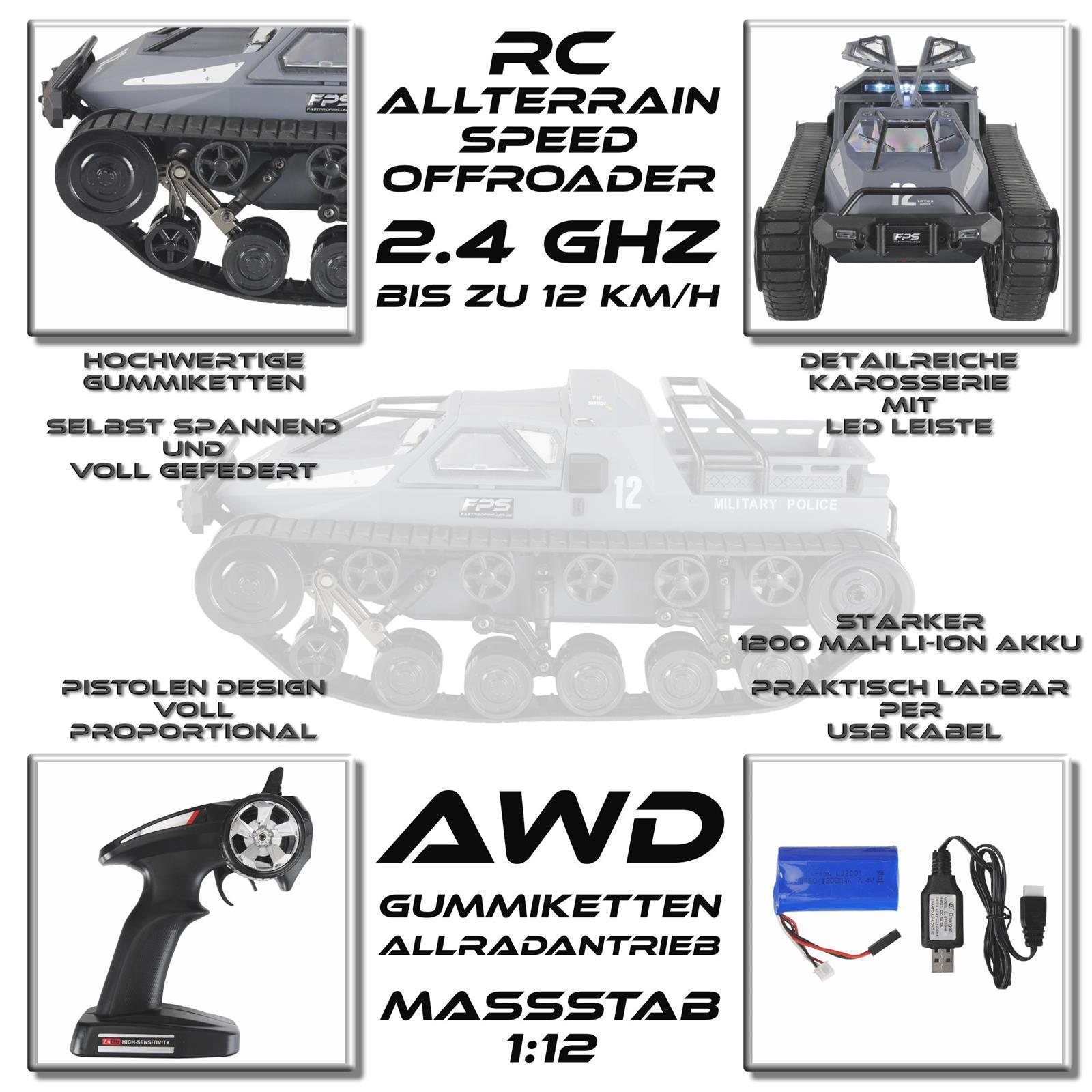 Rock Crawler RC Monstertruck Seite Ansicht