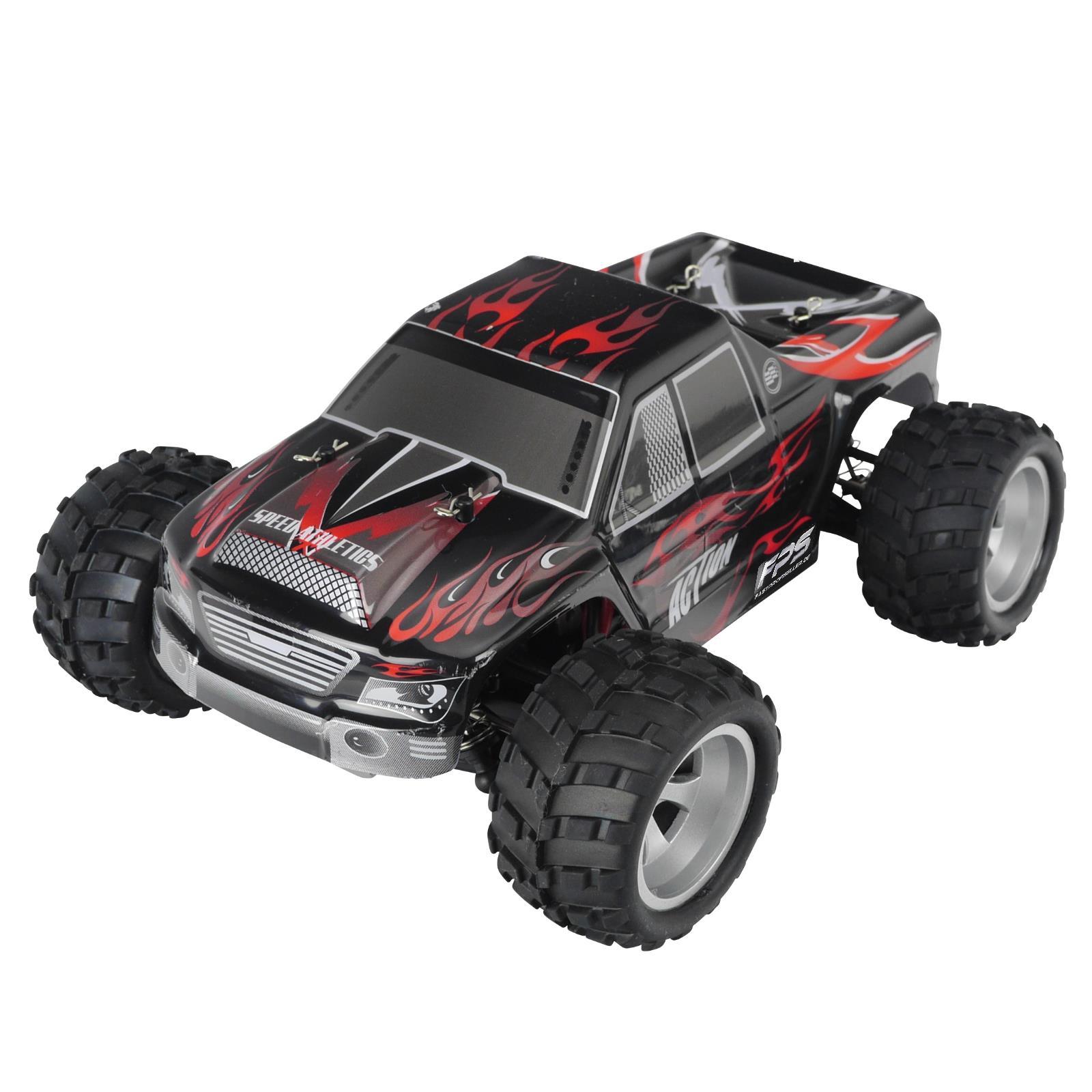 Rayline Funrace 01 FR01 RC Monstertruck Schwarz Rot mit Zubehör 1x Akku