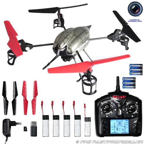 Drohne mit Zubehör als Beispiel